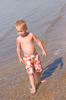 Free Boy Walking At The Beach Royalty Free Stock Photo - 6753265