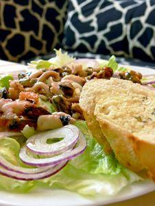 Seafood Salat Royalty Free Stock Photography