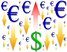 Rise In The Dollar Royalty Free Stock Photos