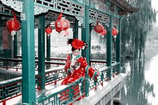 Retro Beauty In China. Stock Images