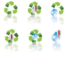 Free Environment Icon Set Royalty Free Stock Photo - 6753715