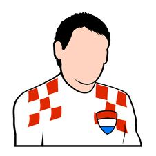 Free Croatian Football Player Stock Photography - 6754112