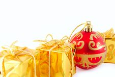 Free Gold Gifts Royalty Free Stock Photos - 6754998