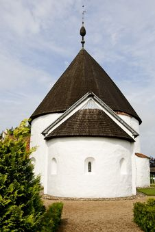 Round Church Ols In Bornholm, Denmark Royalty Free Stock Photo