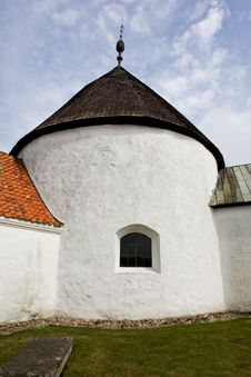 Round Church Ols In Bornholm, Denmark Royalty Free Stock Photography
