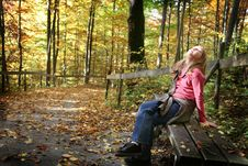 Free Resting Girl In Forest Royalty Free Stock Photography - 6755527