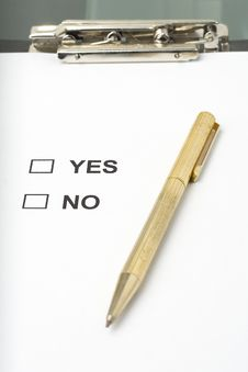 Free Checklist Questionnaire Quality Of Service Royalty Free Stock Photos - 6756318