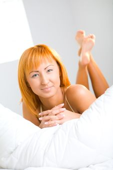 Free Young Woman In Bed Stock Photo - 6756410