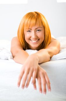 Free Woman Relaxing In Bed Stock Photo - 6756580