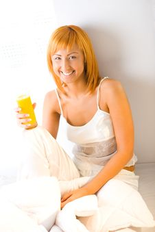 Free Woman With Juice Royalty Free Stock Photography - 6756667