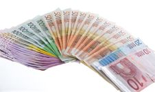 Free Euro Bank Notes Organized In A Flapper Stock Photos - 6757063