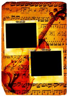 Free Vintage Musical Pages (polaroid) Royalty Free Stock Photography - 6757557