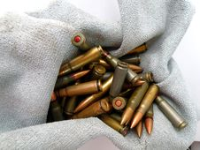 Free Cartridges Of Ak 47 7,65 Mm Stock Photo - 6757740