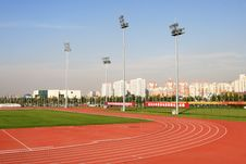 Free Curve Of The Running Track Royalty Free Stock Photography - 6757887