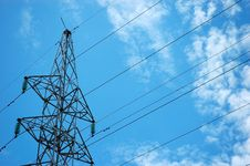 Free Electricity Tower Royalty Free Stock Photography - 6758067