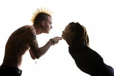 Free Man And Woman Arguing Stock Photo - 6758170