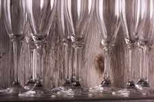 Free Champagne Flutes On Shelf Royalty Free Stock Photography - 6758547