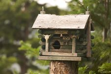 Free Rustic Birdhouse Royalty Free Stock Image - 6758586