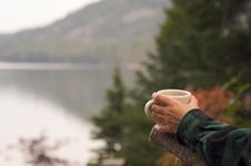 Free Morning Coffee On The Lake Royalty Free Stock Images - 6758599