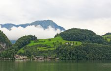 Free The Small Village On The Hills Around Lake Luzern Stock Photos - 6758873
