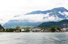 Free The Small Village On The Hills Around Lake Luzern Royalty Free Stock Image - 6758876