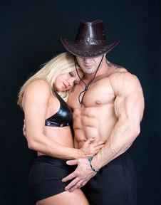 Free Cowboy Girl And Boy Stock Photo - 6759710