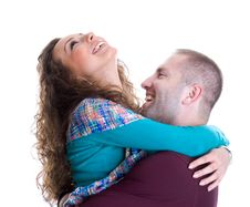 Free Young Love Couple Smiling Royalty Free Stock Images - 6759799