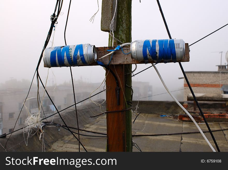 Homemade Tin (can) Television Antenna  - Free Stock Images