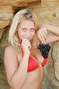 Free The Girl With Grapes Stock Images - 6760884