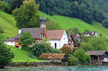 Free The Small Village On The Hills Around Lake Luzern Stock Photography - 6764212