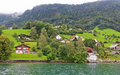 Free The Small Village On The Hills Around Lake Luzern Stock Images - 6764254
