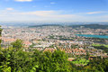 Free The Aerial View Of Zurich City Royalty Free Stock Photography - 6769077