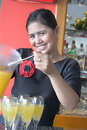 Free Waitress Making Drink Royalty Free Stock Photos - 6769498