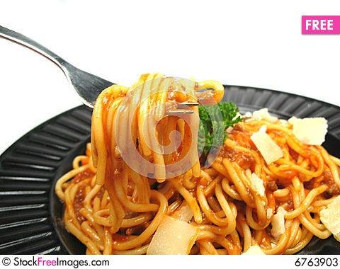 Free Enjoy Your Spaghetti Stock Photos - 6763903