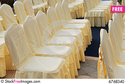 The Files Of Chairs With Cloth Cover .