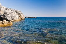 Rocky Mediterranean Beach Royalty Free Stock Image
