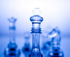 Free Transparent Blue Chess Royalty Free Stock Photos - 6761028