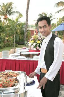 Free Waiter At Buffet Royalty Free Stock Photo - 6761125