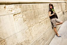 Free Elegant Woman In Wall Royalty Free Stock Photography - 6761547
