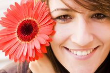 Free Woman With Flower Royalty Free Stock Photo - 6761575