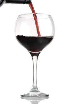 Free Pouring Red Wine Into Glass Royalty Free Stock Photography - 6761867