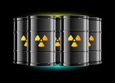 Free Radiation Sign Barrel Stock Photos - 6761943