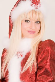 Free Portrait Of Attractive Mrs. Santa Stock Images - 6762114