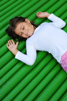 Free Girl On Green Stock Photography - 6762542
