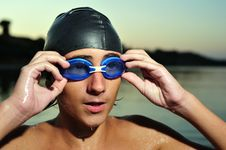 Free Swimmer Portrait Royalty Free Stock Photography - 6762687