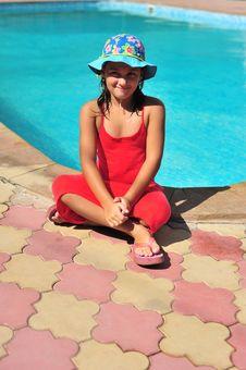 Free Girl Near Pool Royalty Free Stock Photo - 6762795