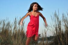 Free Girl Running Stock Photography - 6762842