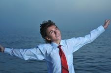 Free Businessman On Sea Stock Photo - 6762860