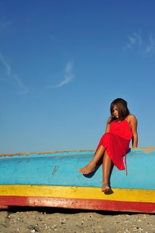 Free Girl In Red Royalty Free Stock Photography - 6763107