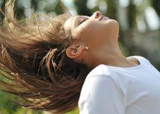 Flipping Hair Royalty Free Stock Image
